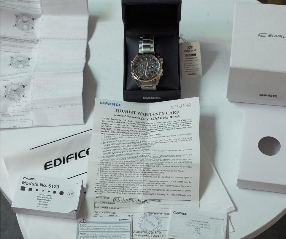 CASIO EQS-500DB-1A2DR