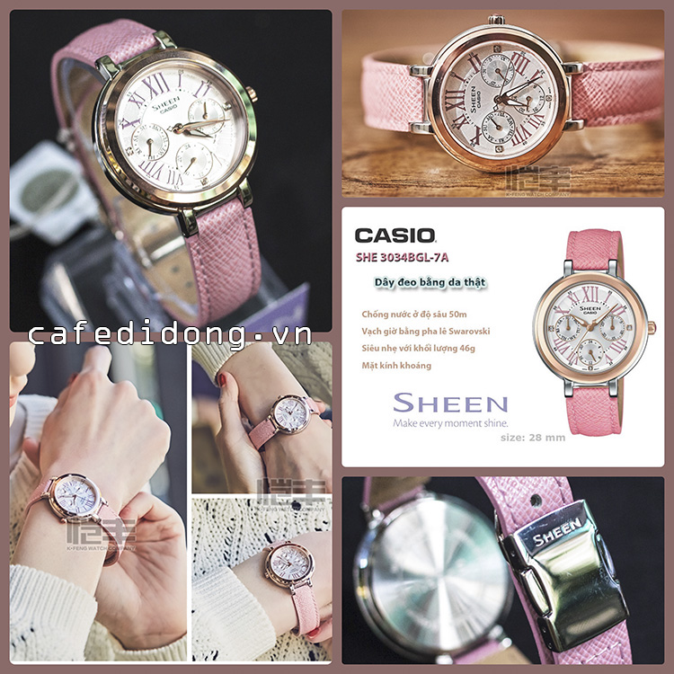 CASIO SHE 3034BGL-7A