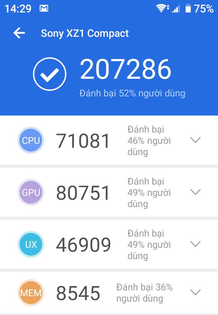 ANTUTU - SONY -XPERIA-XZ1-COMPACT