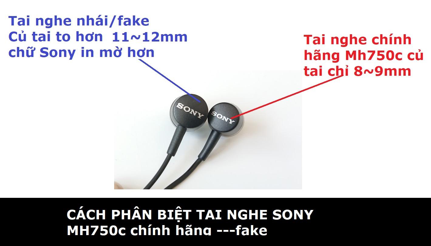 Cách phân biệt tai nghe sony chính hãng